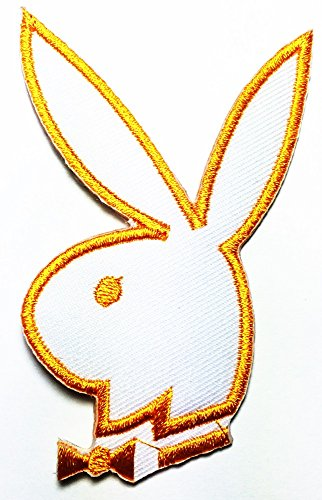 Playboy yellow Bunny Rabbit logo patch Jacket T-shirt Sew Iron on Patch Badge Embroidery