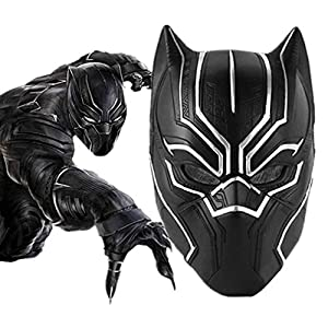 YASHALY Black Panther Masks, Super Hero Cosplay Halloween Mask Latex Fancy Captain America War Helmet