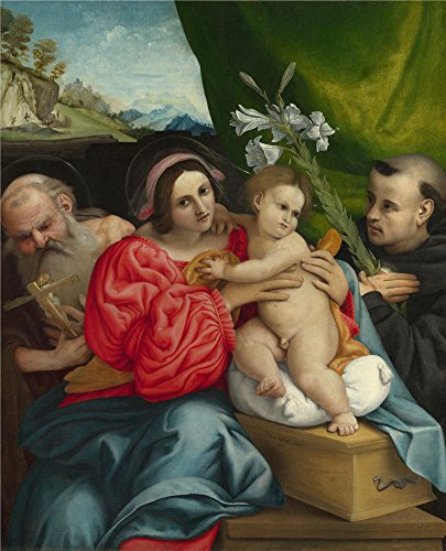 [Oil Painting 'Lorenzo Lotto The Virgin And Child With Saints' 10 x 12 inch / 25 x 31 cm , on High Definition HD canvas prints is for Gifts And Home Office, Kids Room And Nursery] (Theatre Costume Closet)