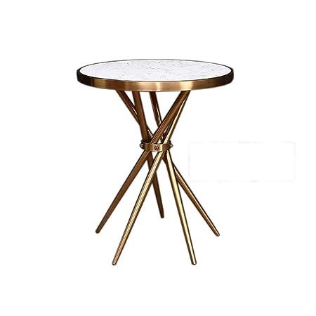 BJL Mesa de centro pequeña, mesa redonda Mesa auxiliar nórdica ...