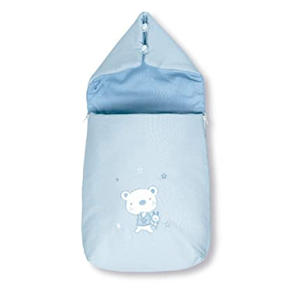 Pirulos 37013013 - Saco recién nacido, diseño osito star, algodón, 37 x 75