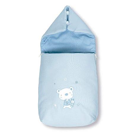 Pirulos Osito Star - Saco recién nacido, color azul
