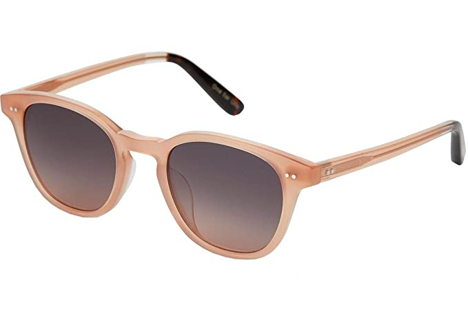 TOMS Wyatt Denim Sunglasses with Rose Mirror Lens