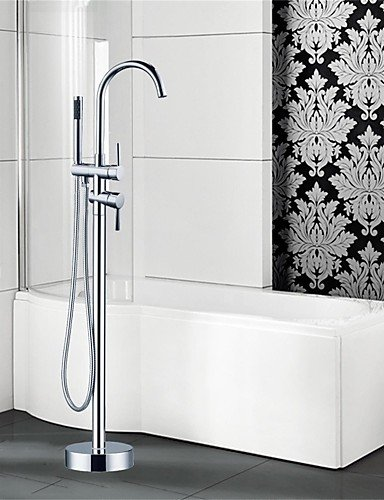 XH@G Bathtub Faucet - Art Deco/Retro - Floor Standing - Brass (Chrome) - Art Deco Faucets