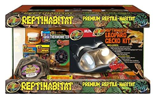 Zoo Med Laboratories SZMNTL10 Reptihabitat Leopard Gecko Kit, 10 Gallon (Leopard Gecko Pets)