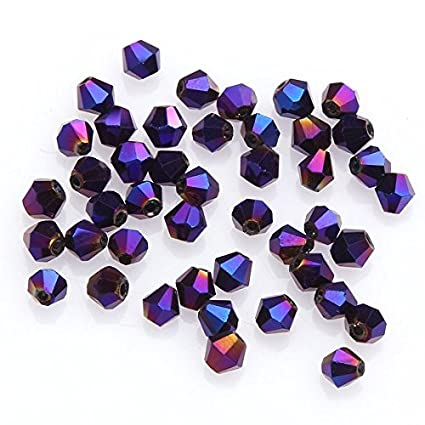 1000pcs 3mm Random Mixed Bicone Faceted Crystal Glass Loose Spacer Beads Lots