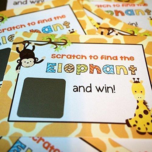 10 Piece Jungle Animals Scratch Off Tickets