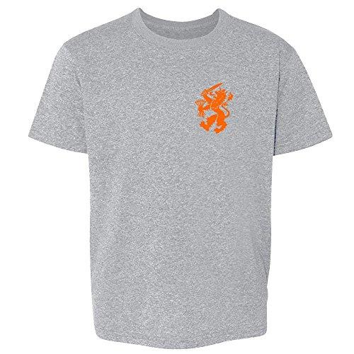Dutch Soccer Retro National Team Halloween Costume Sport Grey M Youth Kids T-Shirt -