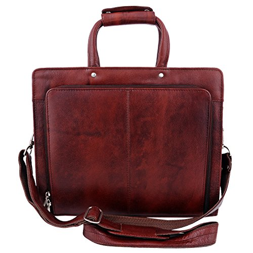 Zint Genuine Leather Portfolio Bag Briefcase - Brown by ZINT