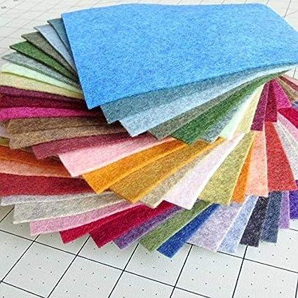 38 Piece Merino Wool Blend Felt - Heathered Colors - Made in USA - OTR Felt (6X6 inches)