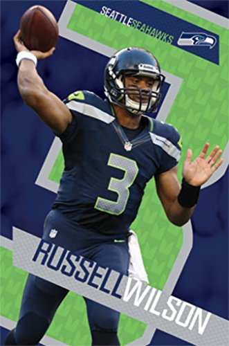 Trends International Russell Wilson Seattle Seahawks (13) Poster 24x36 inch