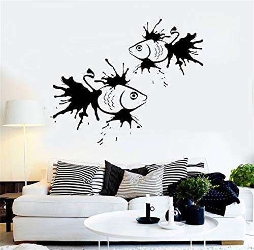 Quote Mirror Decal Quotes Vinyl Wall Decals Wall Sticker Fish of Ink Spot Marine for Bathroom