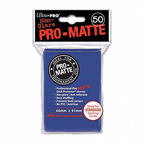 Deck Protector Sleeves: PRO-Matte 50 Blue Ultra Pro 12886