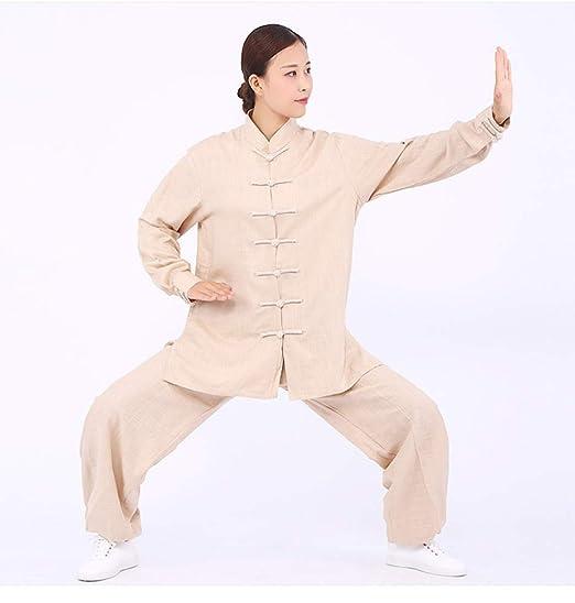 KOUYNHK Ropa De Tai Chi Hombre,Chino Clásico Shaolin Kungfu Wing ...