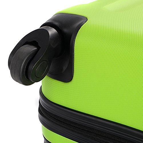 Goplus 3 Pcs Luggage Set Hardside Travel Rolling Suitcase ABS Globalway (Green) by Goplus (Image #6)