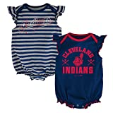 MLB Cleveland Indians Infant Girls 2pk Creeper-18 Months, Athletic Navy