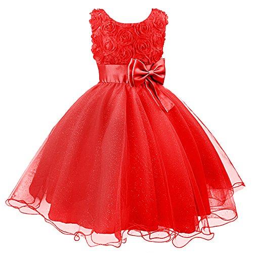120cm Party Long Dress Sleeveless Princess Girl Dress-Purple - 4