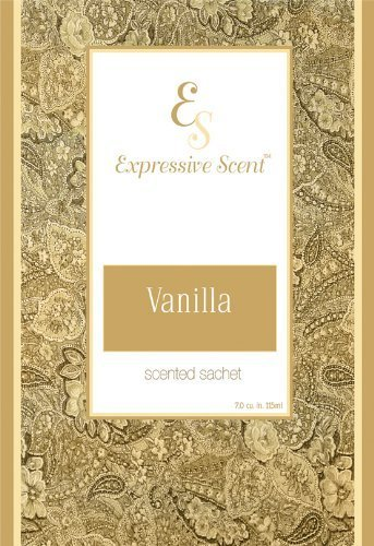 6 Pack Vanilla Large Scented Sachet Envelope By Expressive Scent JacMax Industries 1818VN