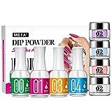 Dipping Powder Nail Kits 3 Colors Dip Powder System Starter Nail Kit Acrylic Dipping System for French Nail Manicure nail art Set Essential kit.
