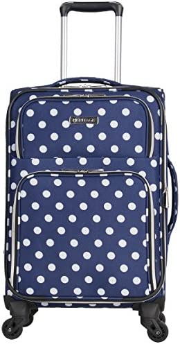 Heritage Travelware Albany Park 20 600d Polka Dot Polyester Expandable 4-wheel Spinner Carry-on Luggage
