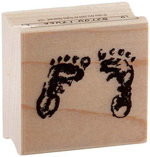 [Hero Arts Baby Feet Woodblock Stamp] (Baby Feet Stamp)