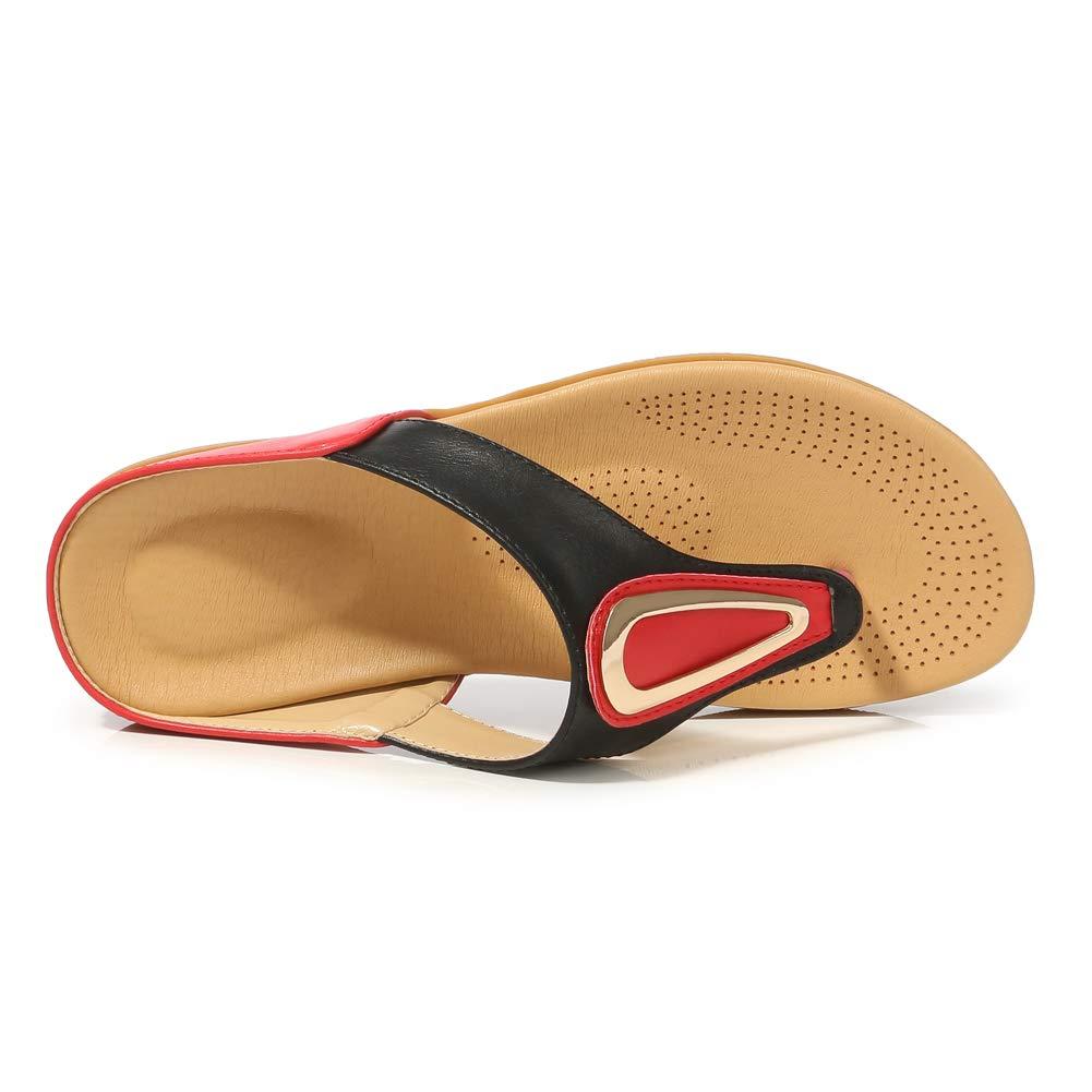 Desirepath Womens 2019 Summer Flip Flops for Women with Arch Support Beach Sandals Comfort Shoes