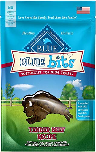 Blue Buffalo BLUE Bits Natural Soft-Moist Training Dog Treats, Salmon Recipe 4-oz bag