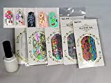 Nail Decals For Woman Foil With Adhesive Transfer Nail Glue