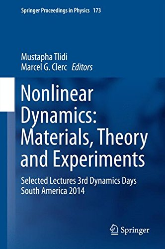 Nonlinear Dynamics: Materials, Theory and Experiments: Selected Lectures, 3rd Dynamics Days South America, Valparaiso 3-