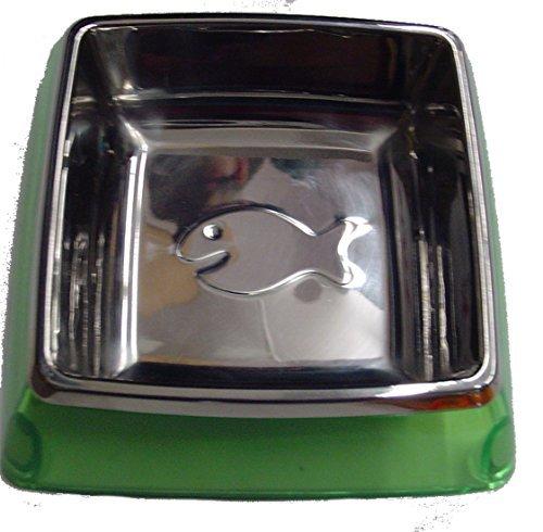Kuji Sports 5-82013 Sm Grn Utopian Cat Bowl Pet Food Dish ()