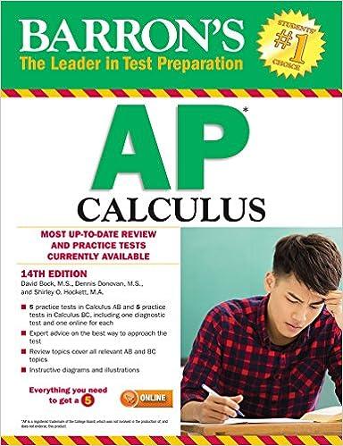 Amazon Com Barron S Ap Calculus Ebook David Bock Dennis Donovan