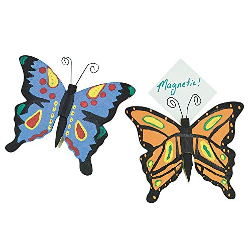 Butterfly Clothespin Magnets Craft Kit (Pack of 12) -