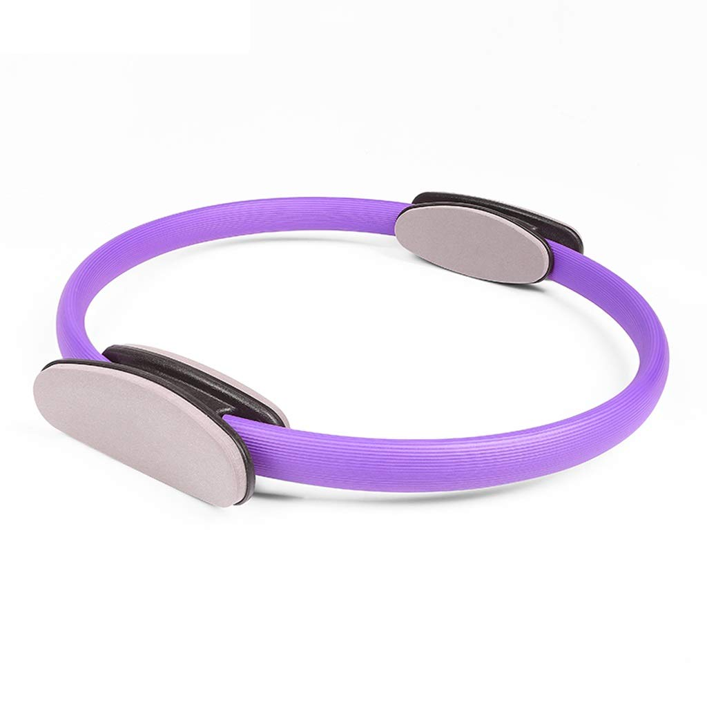 Magic Circle - Inner Thigh Exercise Equipment Home Fitness Workout,for Abs Thighs and Legs Stretching and Warming-Up, Home Travel Gym (Color : Purple)