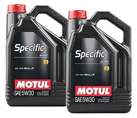 MOTUL Aceite Lubricante Motor DEXOS2 5W30, Pack 10 litros: Amazon.es: Coche y moto