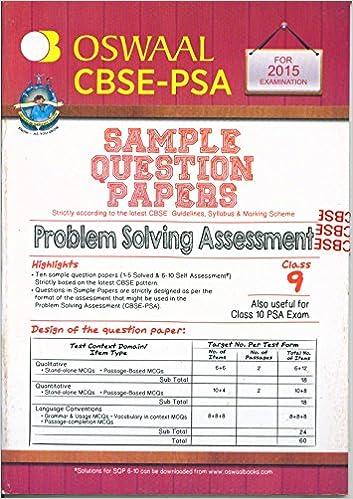 Of class book 9 psa