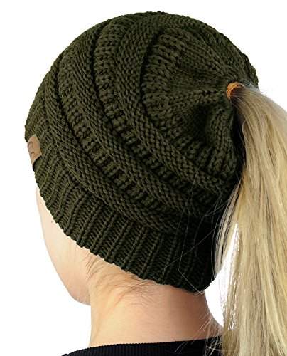 0a4e9a2b4c066f C.C BeanieTail Soft Stretch Cable Knit Messy High Bun Ponytail Beanie Hat -  Buy Online in UAE. | Apparel Products in the UAE - See Prices, Reviews and  Free ...