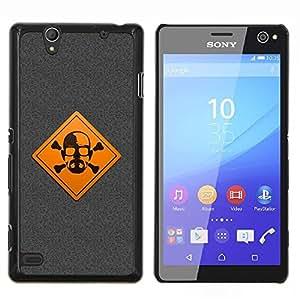 EJOOY---Cubierta de la caja de protección para la piel dura ** Sony Xperia C4 ** --Advertencia Meth Cocine
