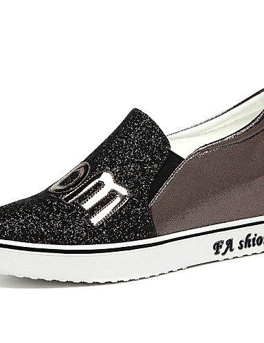 ZQ Zapatos de mujer - Plataforma - Creepers - Tacones - Oficina y Trabajo / Vestido / Casual / Fiesta y Noche - Purpurina - Negro / Rosa , pink-us8 / eu39 / uk6 / cn39 , pink-us8 / eu39 / uk6 / cn39 pink-us5 / eu35 / uk3 / cn34