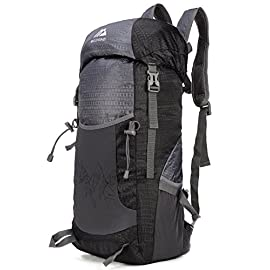 Mozone Large 40l Lightweight Travel Water Resistant Backpack