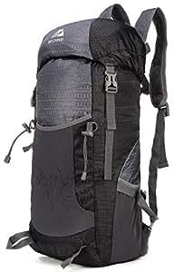 Mozone Large 40l Lightweight Travel Backpack/foldable & Packable Hiking Daypack (Black)