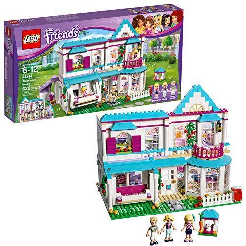 LEGO Friends Stephanie's House 41314 Build and Play Toy House with Mini Dolls, Dollhouse Kit (622 Pieces) (Miniature Castles Sale For)