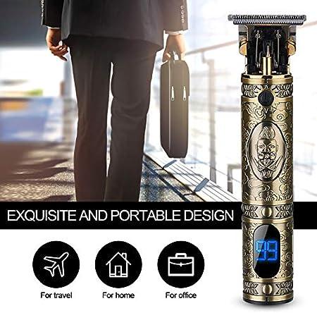 Eléctrica Para Cortar el Pelo, Inalámbrica y recargable, Maquinilla Cortar Recortadora de Pelo con Pantalla Digital LCD Recortadora ideal Para Contornos