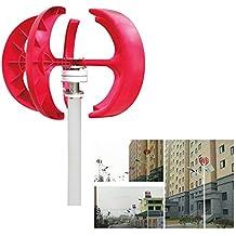 TFCFL 300W 12V Wind Turbine Generator Red Lantern 5 Blades Vertical Axis Wind Turbine Kit with Controller