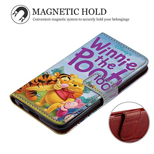 8883 Series - Phone Wallet Case Compatible Apple iPhone Xs Max (2018) 6.5 Inch Disney Winnie The Pooh Series