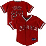 Majestic Mike Trout Los Angeles Angels of Anaheim Infant Replica Baseball Player Jersey Red
