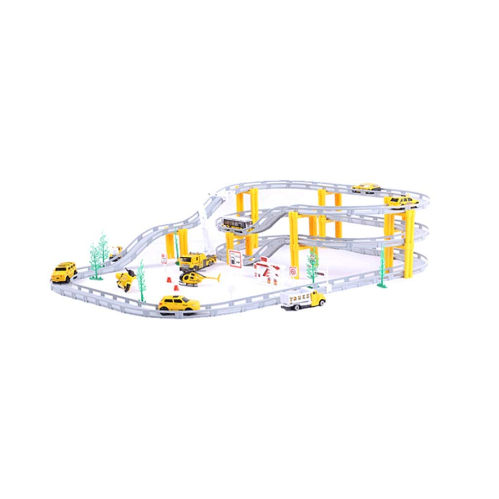 LINGLING-Track Children's Track Toy Rail Car Racing Electric Car Boy Scene Demonstration Track Over 6 Years Old (Color : D)