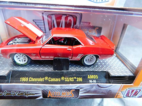 1969 (Red) Chevrolet Camaro SS/RS 396 M2 Machines Limited Edition 49+ Individual Part Construction Release AM05 1:64 Scale die-cast