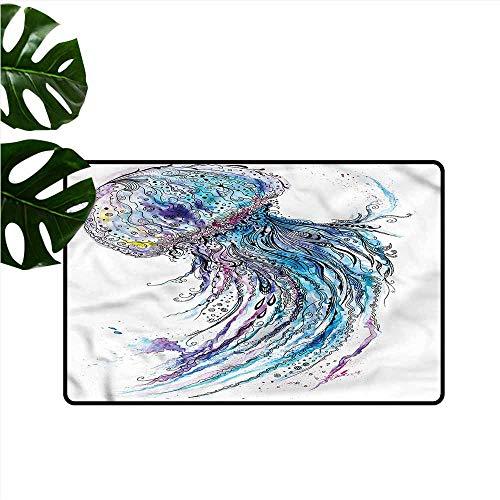 Playhouse Creative Rug - HOMEDD Entrance Doormat,Jellyfish Aqua Colors Creative,Easy Clean Rugs,31