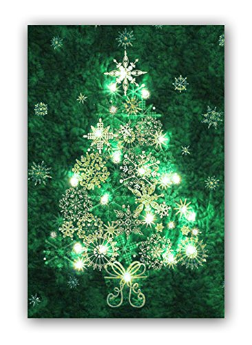Easy Quilt Kit - Stonehenge Evergreen Christmas Tree Starry Night Complete Wall Hanging Kit with Lights - Free Priority Shipping! (Christmas Tree Quilt)