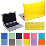 HDE Sleek Crystal Clear Hard Shell Case Snap Protective Cover + Keyboard Skin for Macbook Air 11